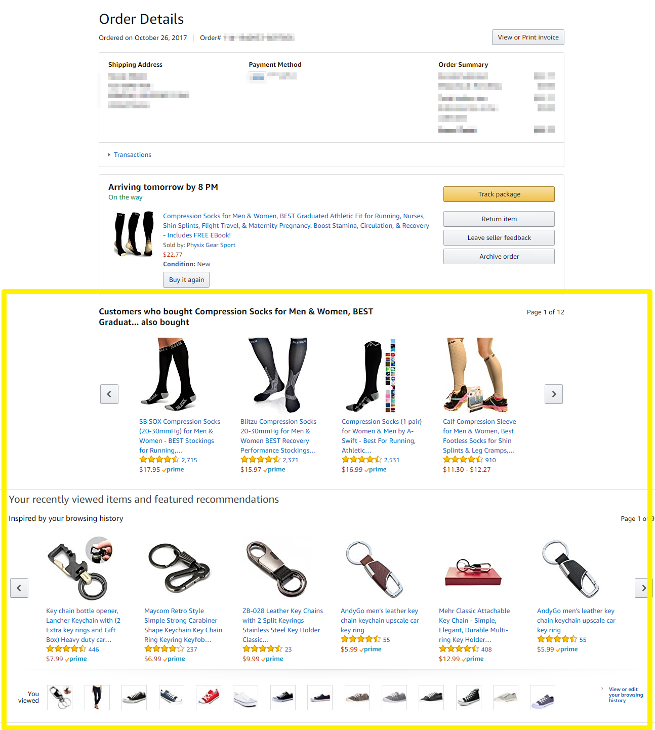 a2720b5df Screenshot showing recommended products on an amazon product page
