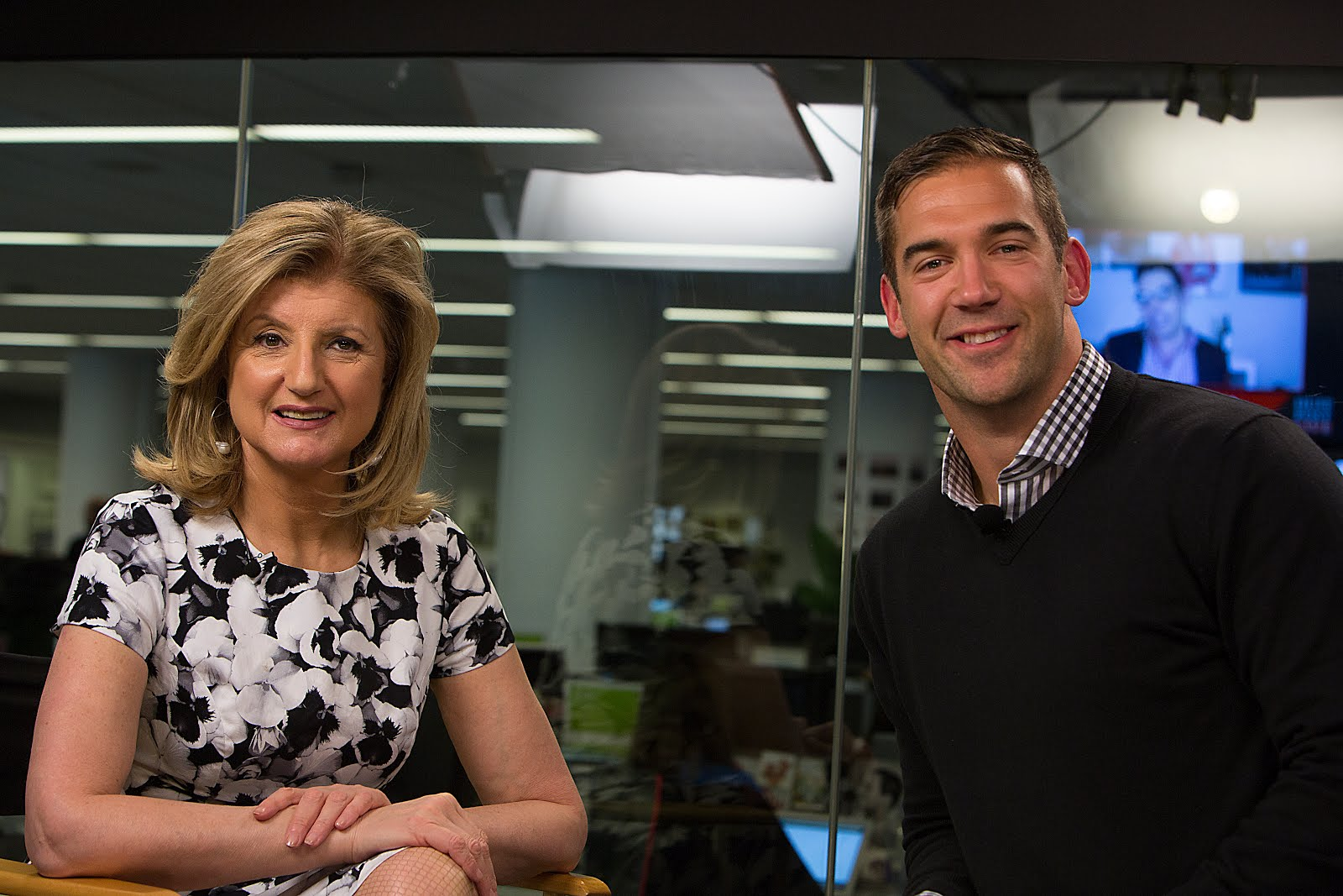 Picture of Lewis Howes with Arianna Huffington