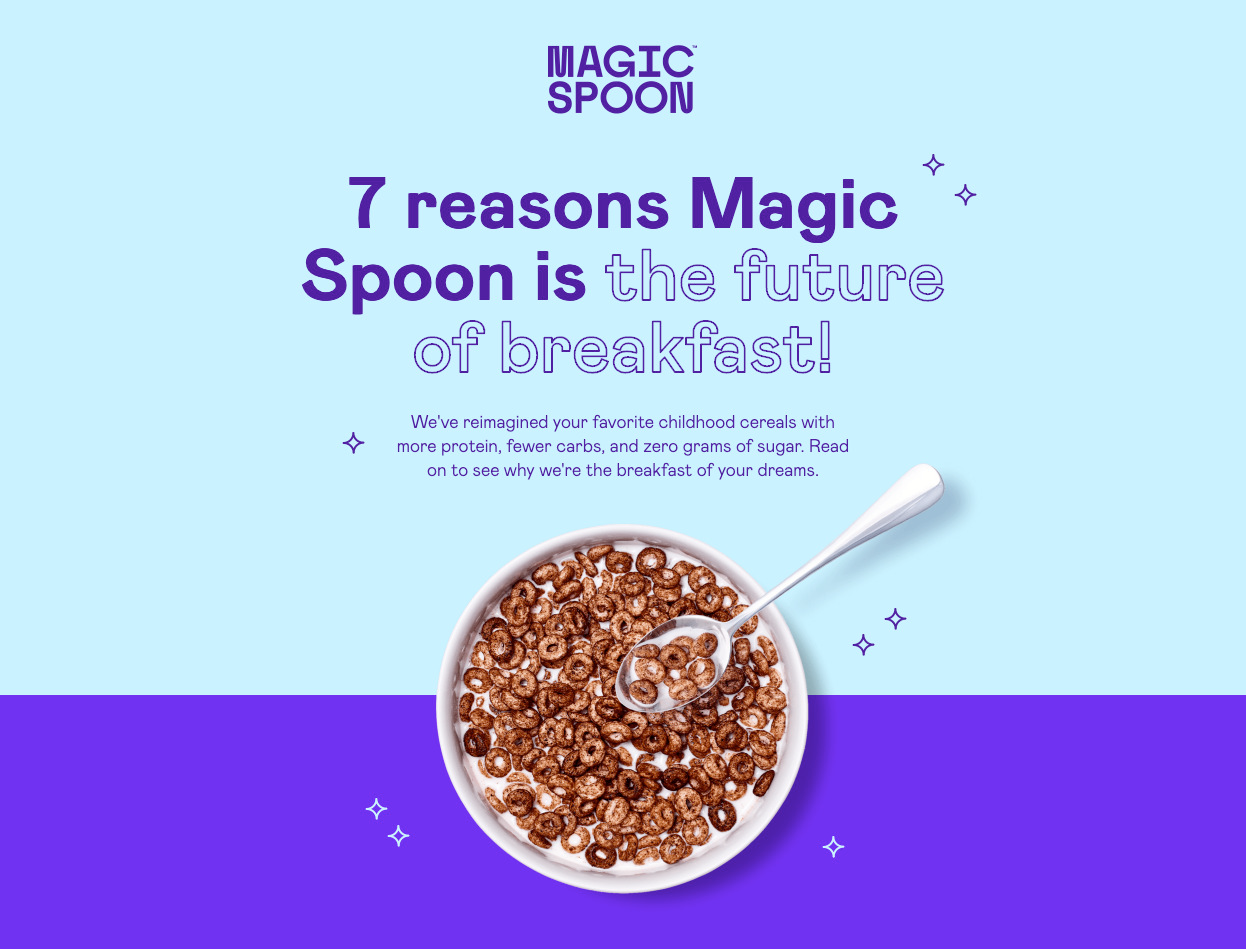 Magic Spoon landing page