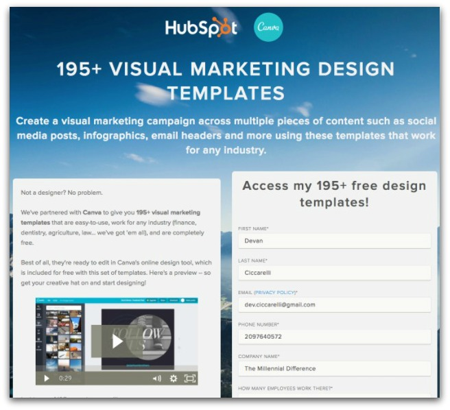 hubspot 195 visual marketing design templates