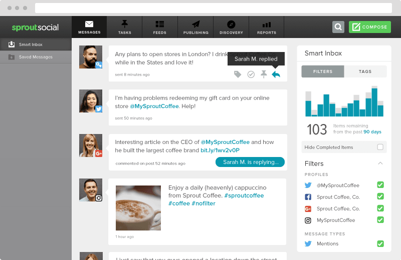Screenshot showing Sproutsocial