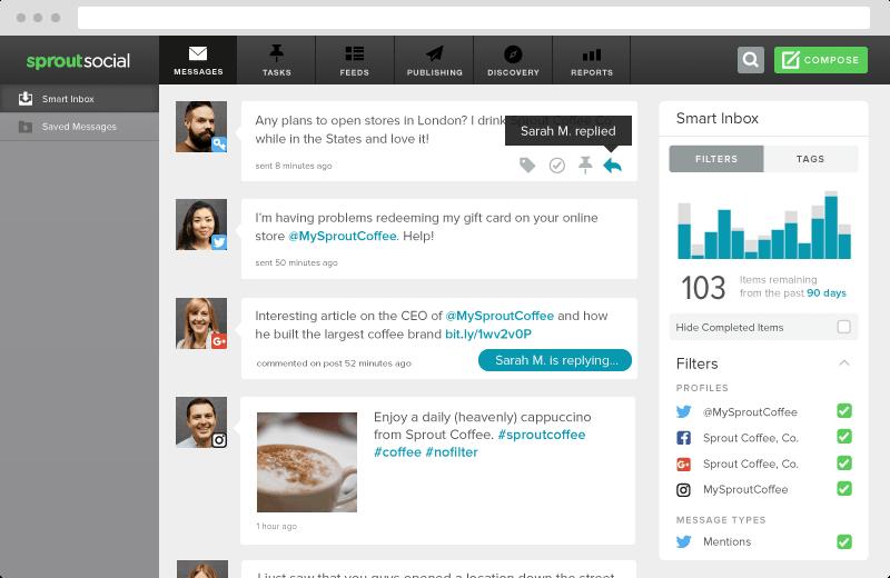 Screenshot showing Sproutsocial