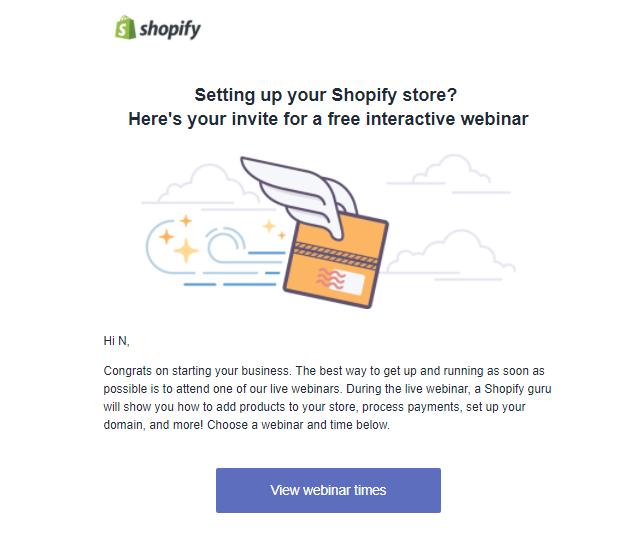 Screenshot showing an invitation to a webinar