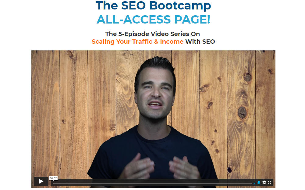 Video for the SEO Bootcamp