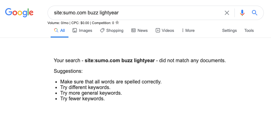Google search Sumo.com buzz lightyear