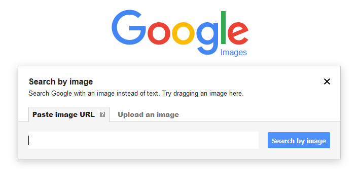 "Screenshot showing ""Search by image"" section on Google"