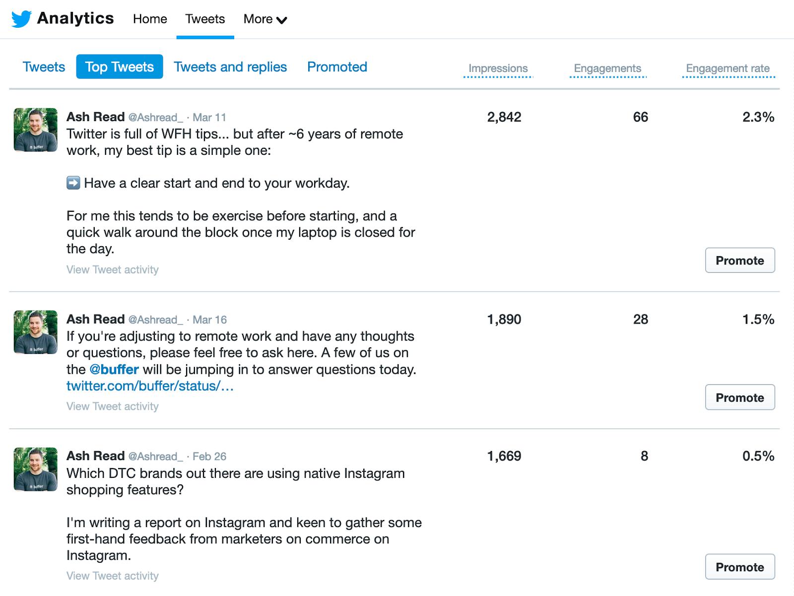 Screenshot of Top tweet