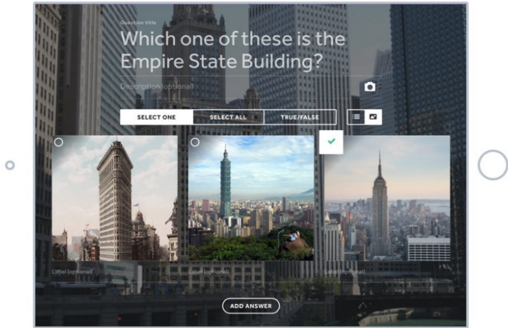 How To Build An Email List: Screenshot of Qzzr quiz