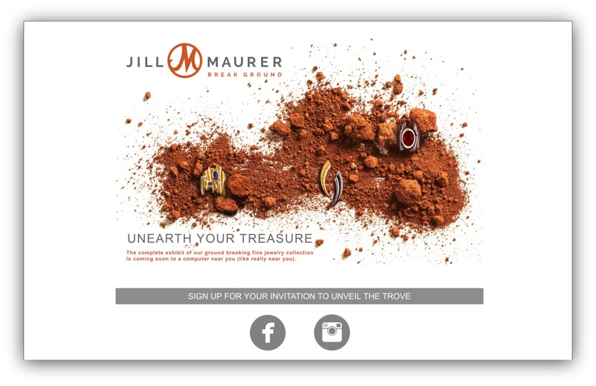 Screenshot of a landing page on Jill Maurer