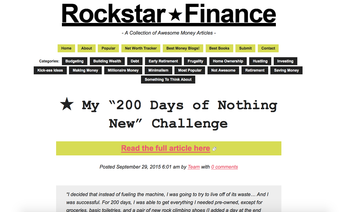 Screenshot of Rockstar Finance