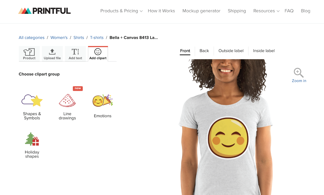 Printful shopify app