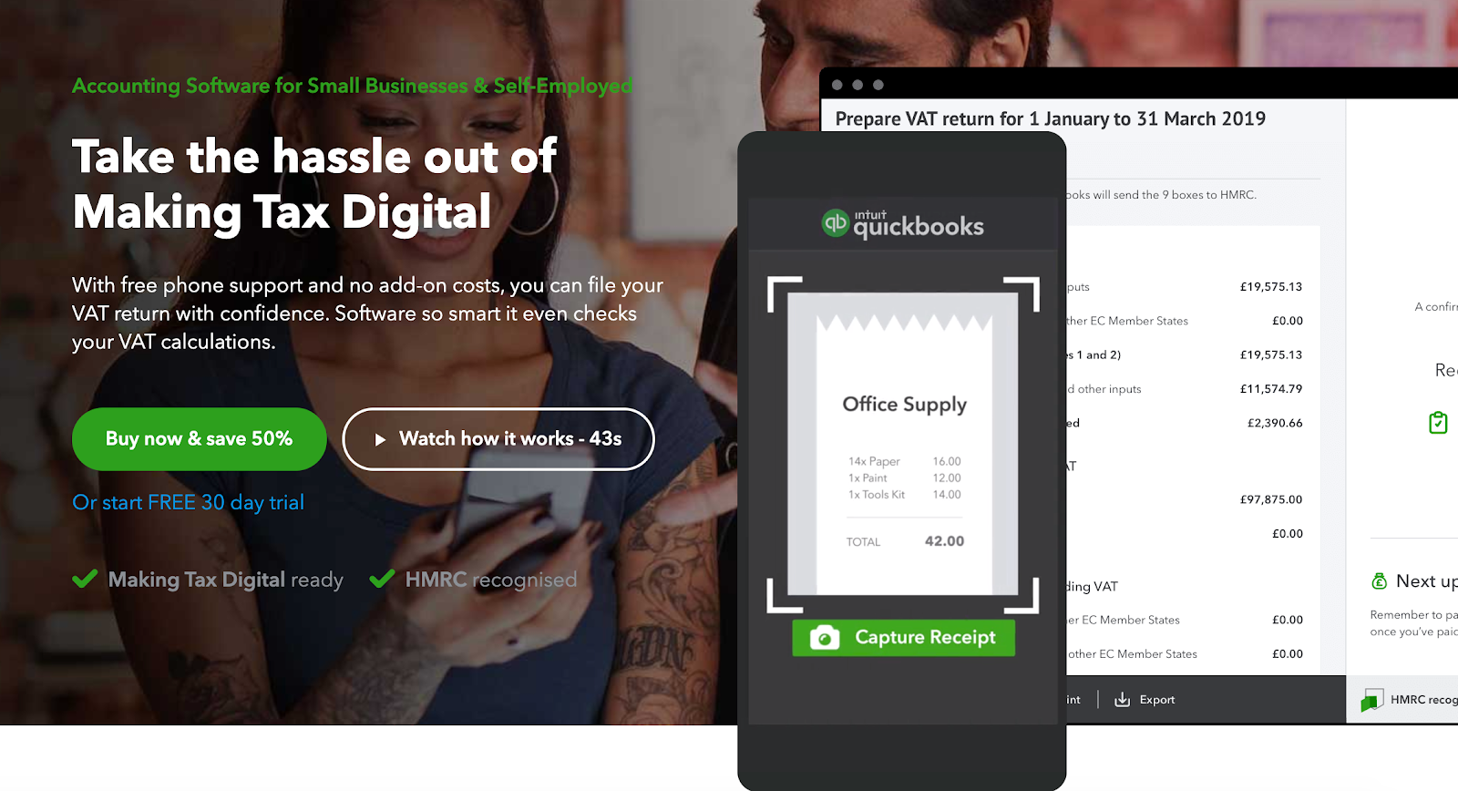 Global Marketing Strategy: Screenshot of Quickbook
