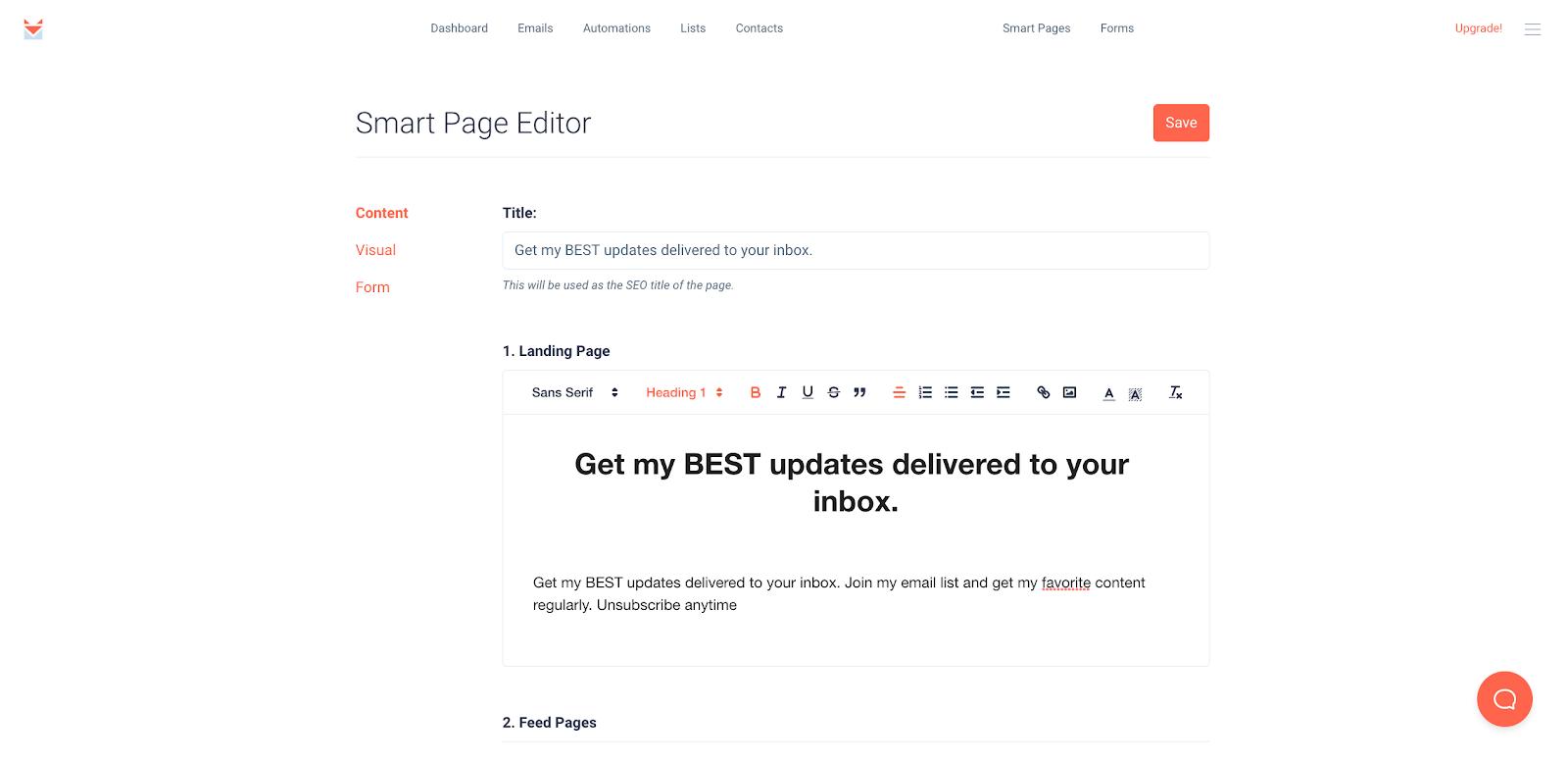 SendFox - Smart Page Editor