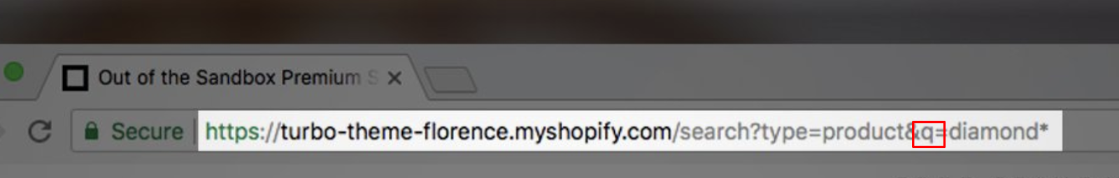 Screenshot showing an address bar