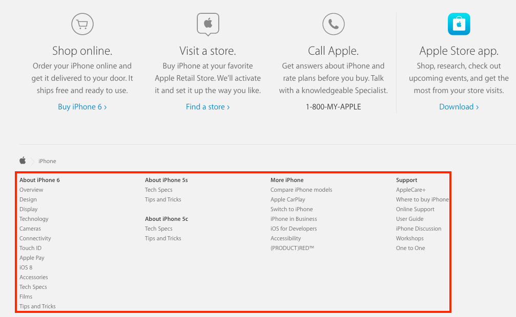 Screenshot showing Apple.com