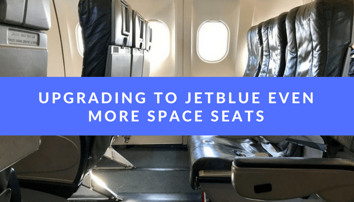 Screenshot showing an upsell by jetblue