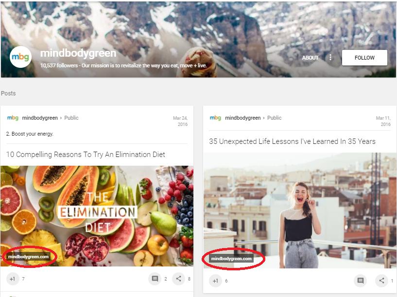 Screenshot showing mindbodygreen