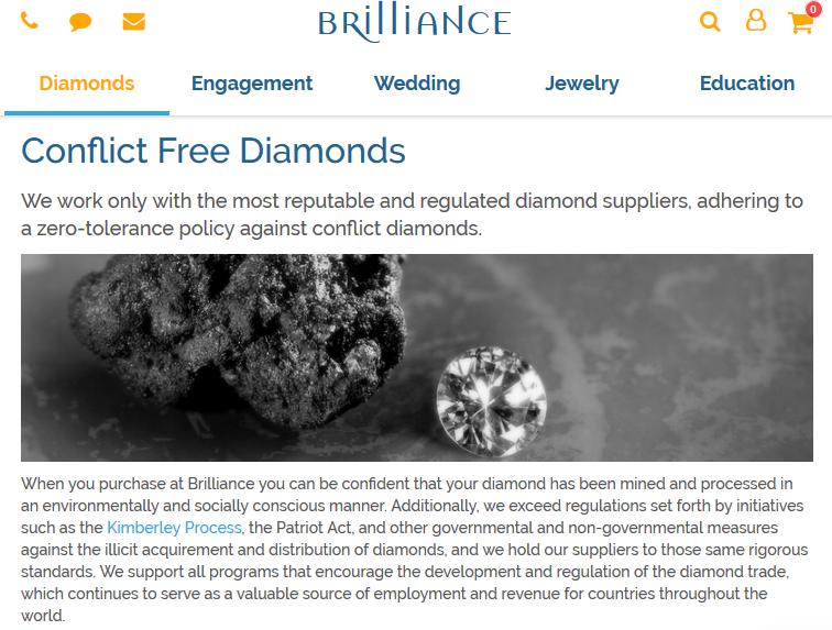 Screenshot showing jewelry description