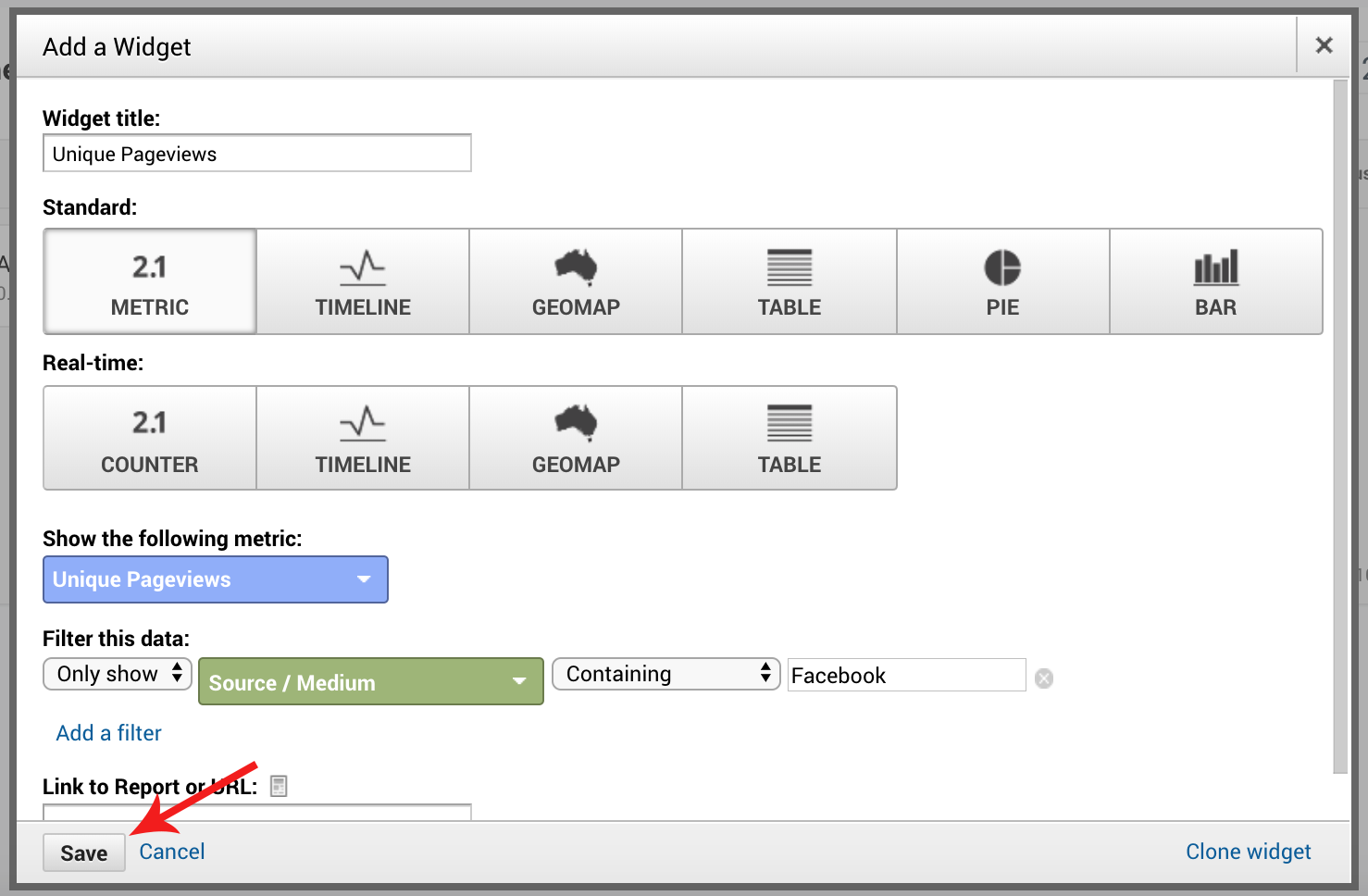 Screenshot of steps to set up ecommerce dashboard in Google Analytics