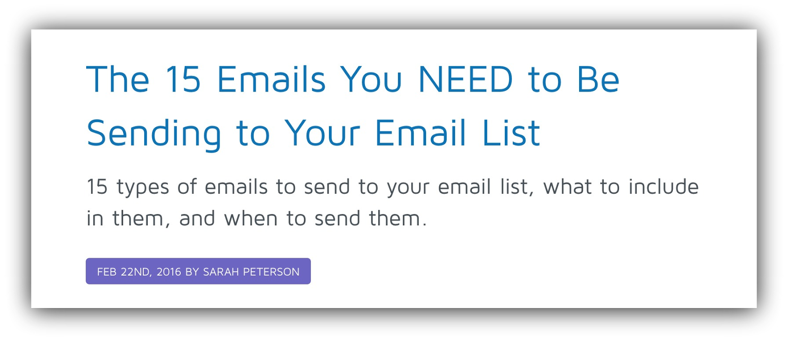 15 emails you need to send sumo