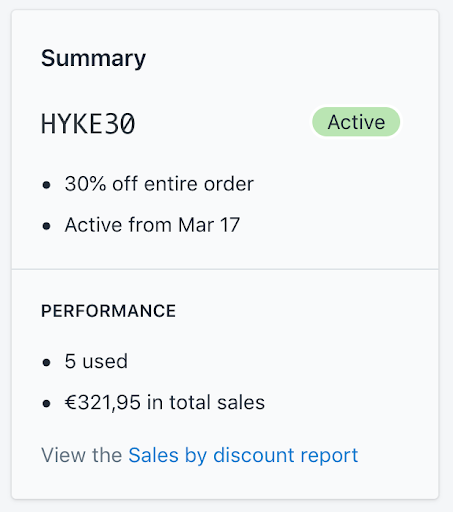 Screenshot showing HYKE Shopify orders