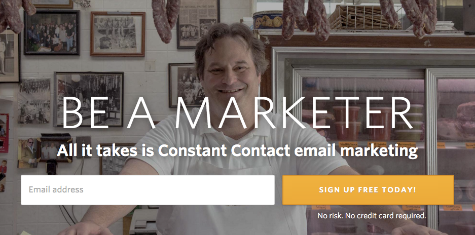 Constant Contact value proposition example