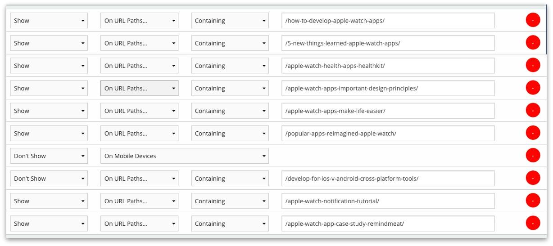 post segmentation for apple watch campaign
