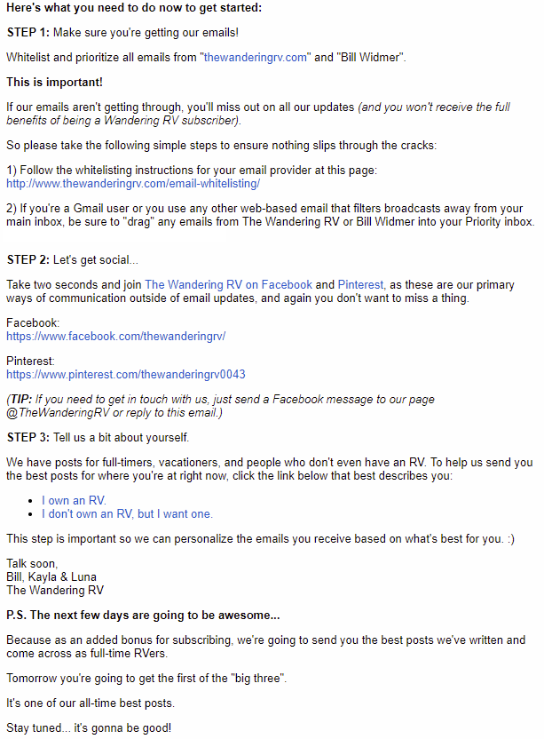 Screenshot showing an email example 2