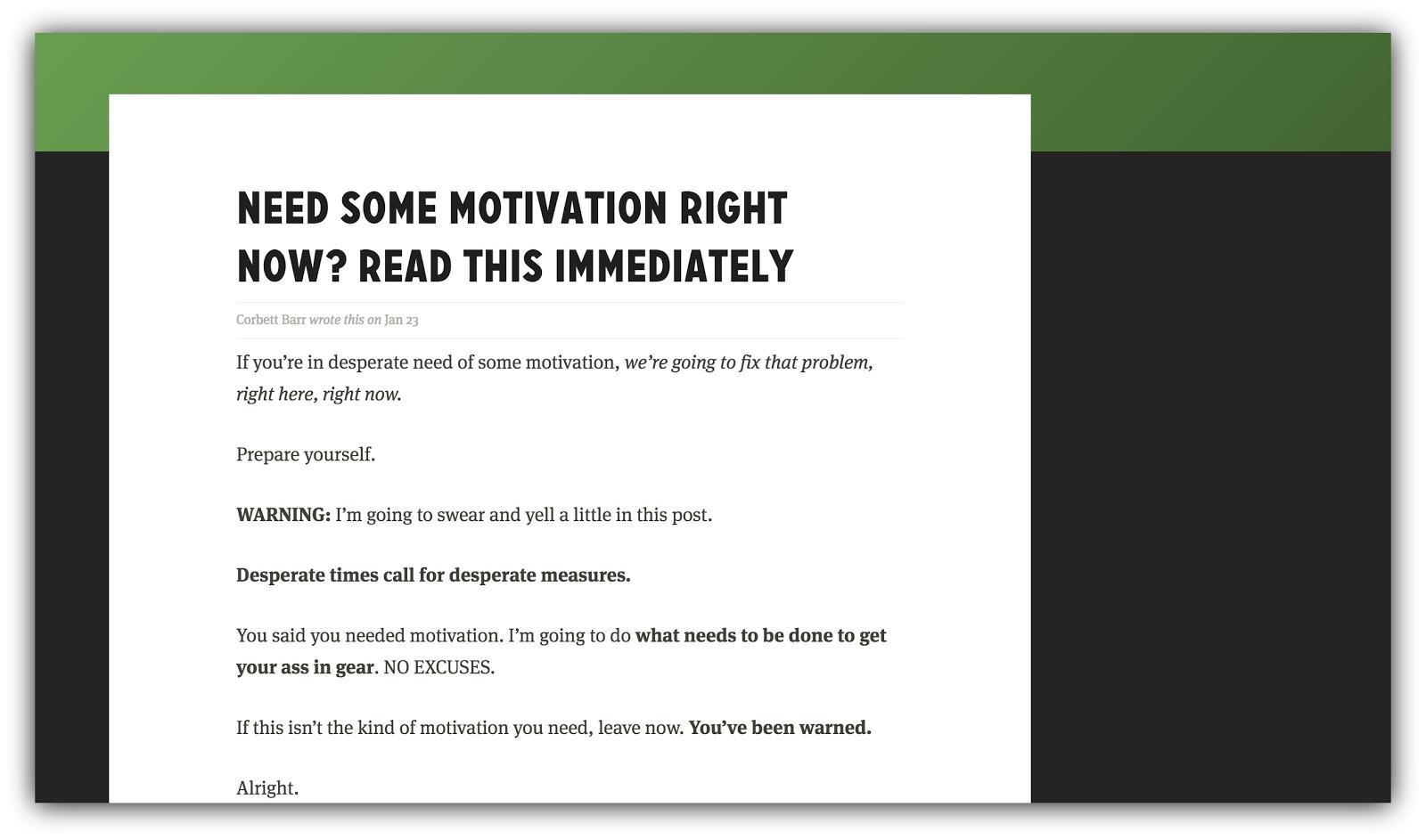 motivation fizzle