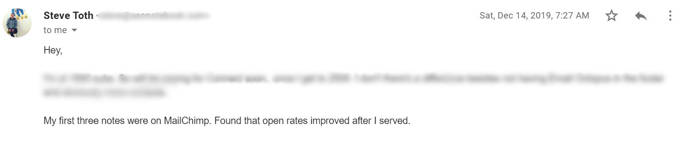 Email Autoresponder Tools: EmailOctopus Testimonial