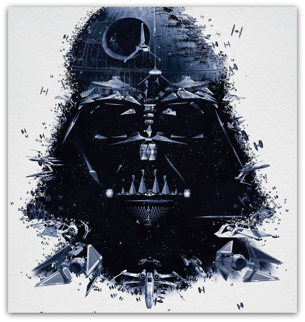awesome darth vader painting