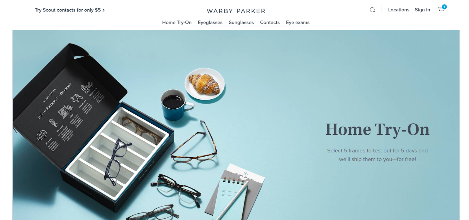 How To Build An Email List: Screenshot of Warby Parker website