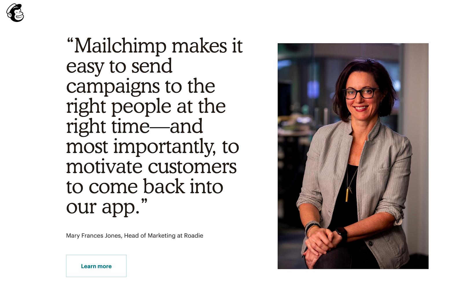 Best Homepages Online - Mailchimp