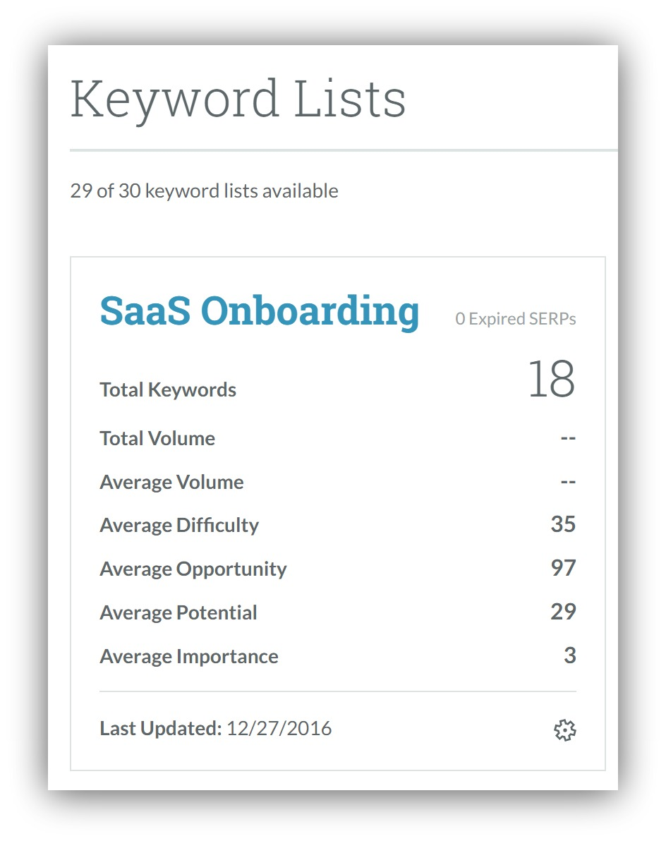 """Screenshot of a stat about keywords on Quora for """"SaaS Onboarding"""""""