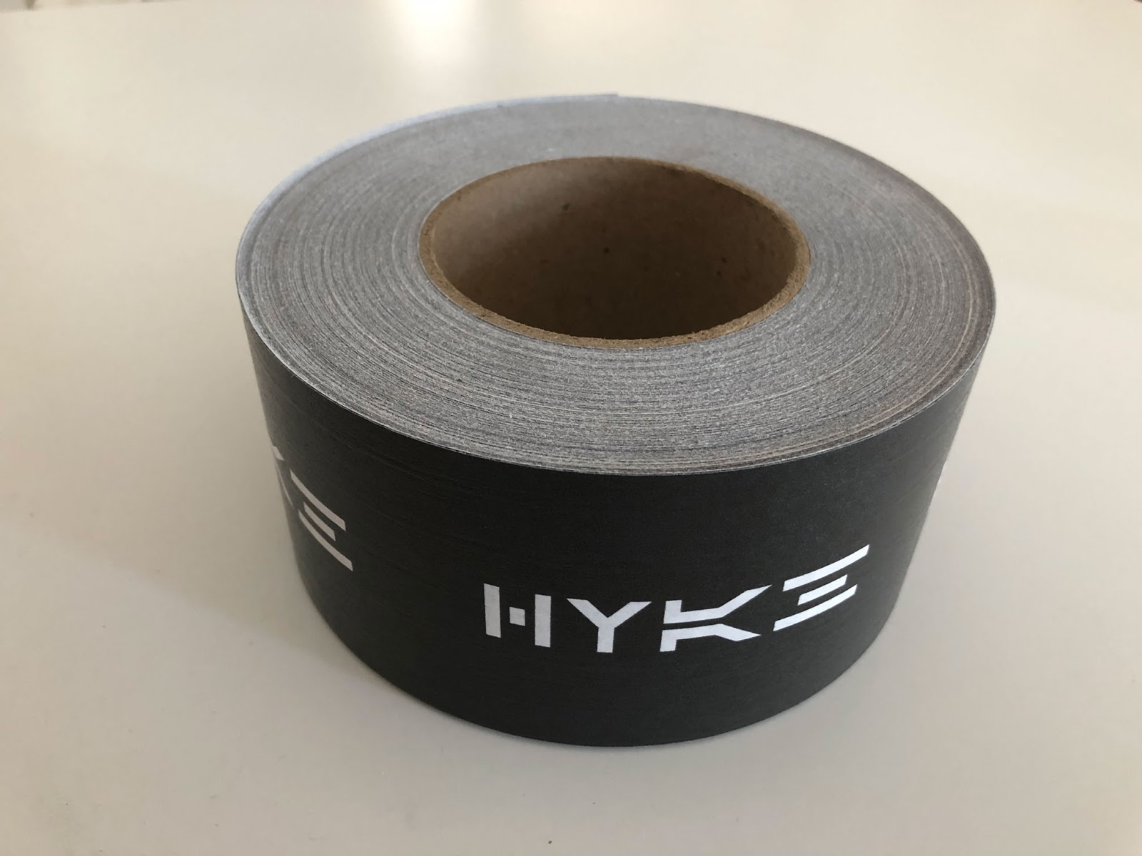 Picture showing HYKE branded tape