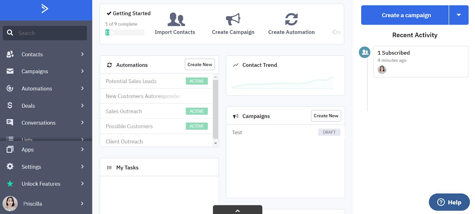 Herramientas de respuesta automática por correo electrónico: ActiveCampaign