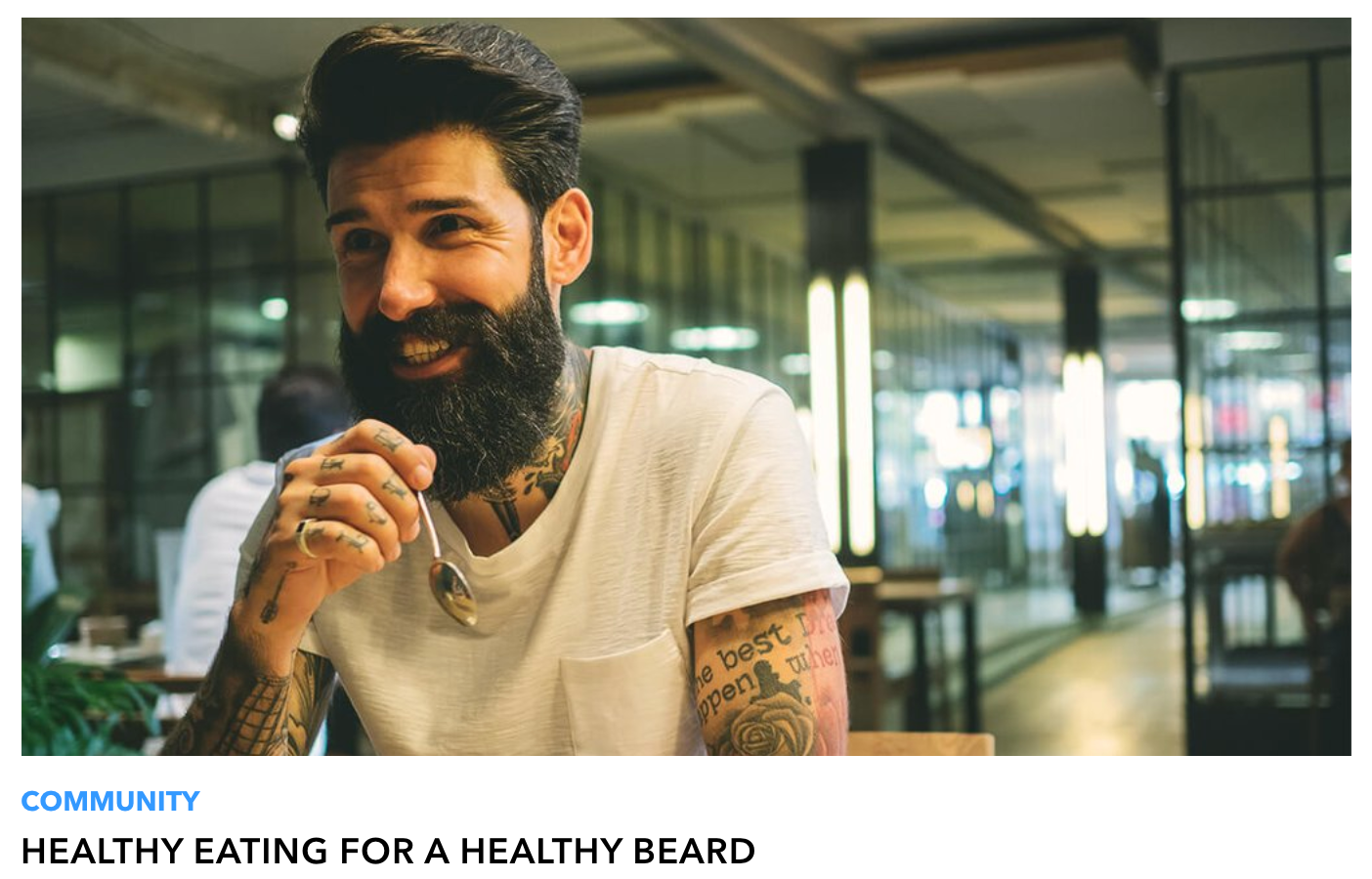 Screenshot of Beardbrand blog