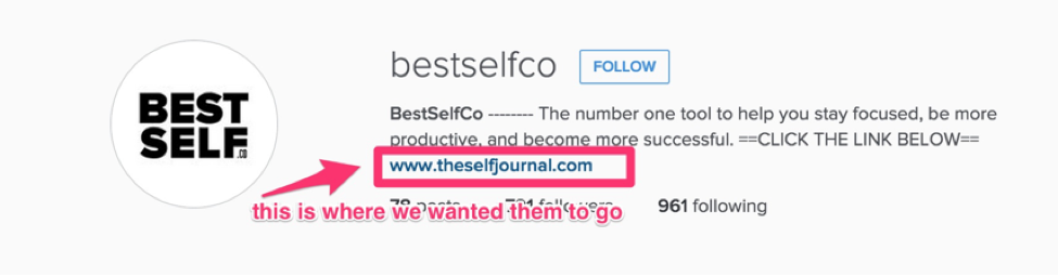 Screenshot showing bestselfco