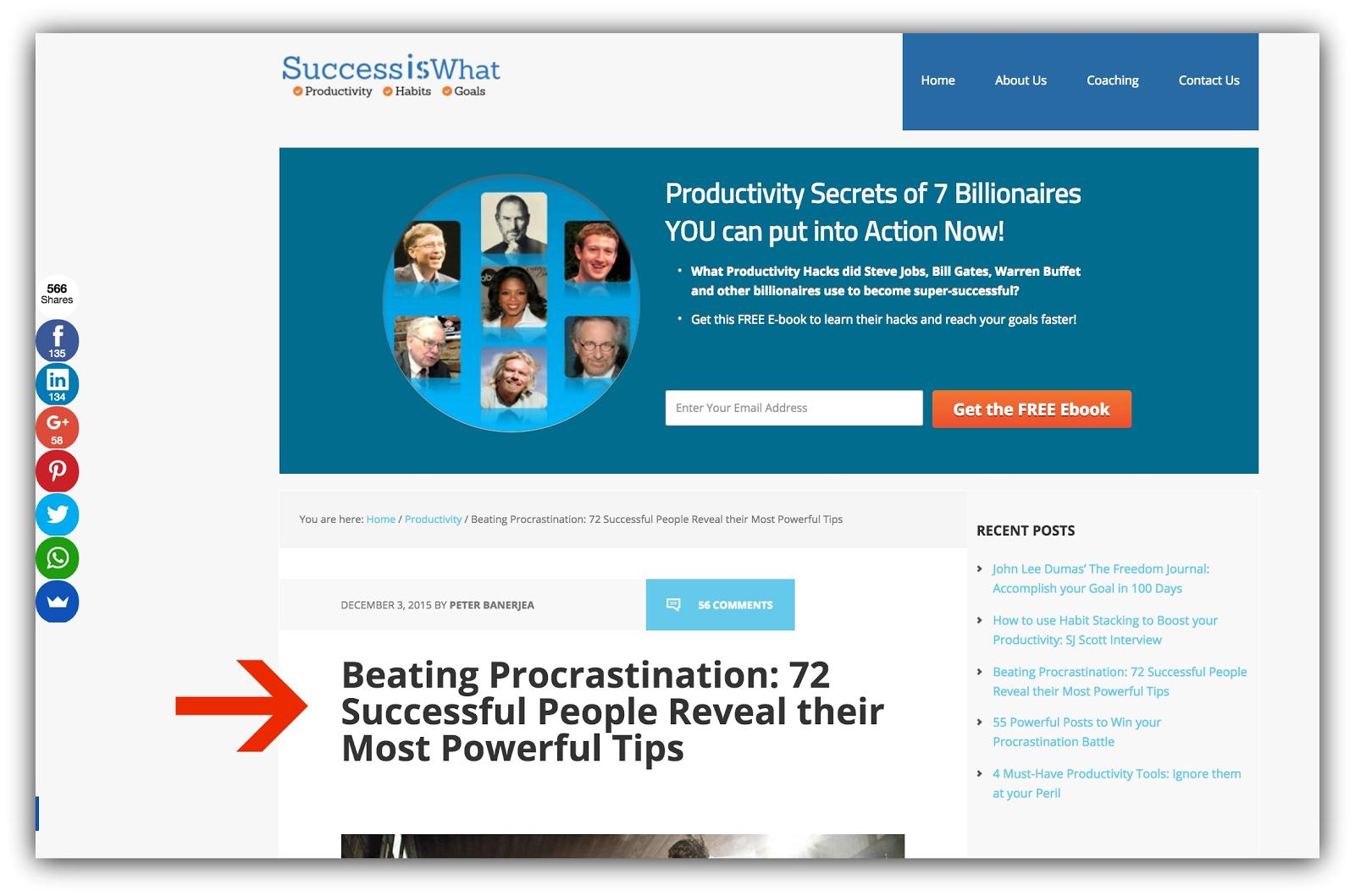 success is what beat procrastination