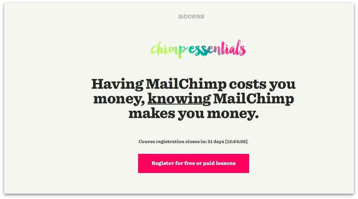 chimp essentials hook