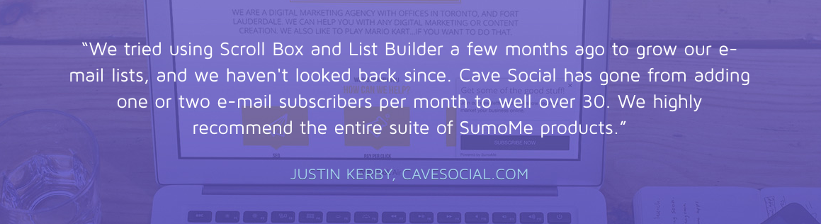 Image of Sumo using testimonials to build trust