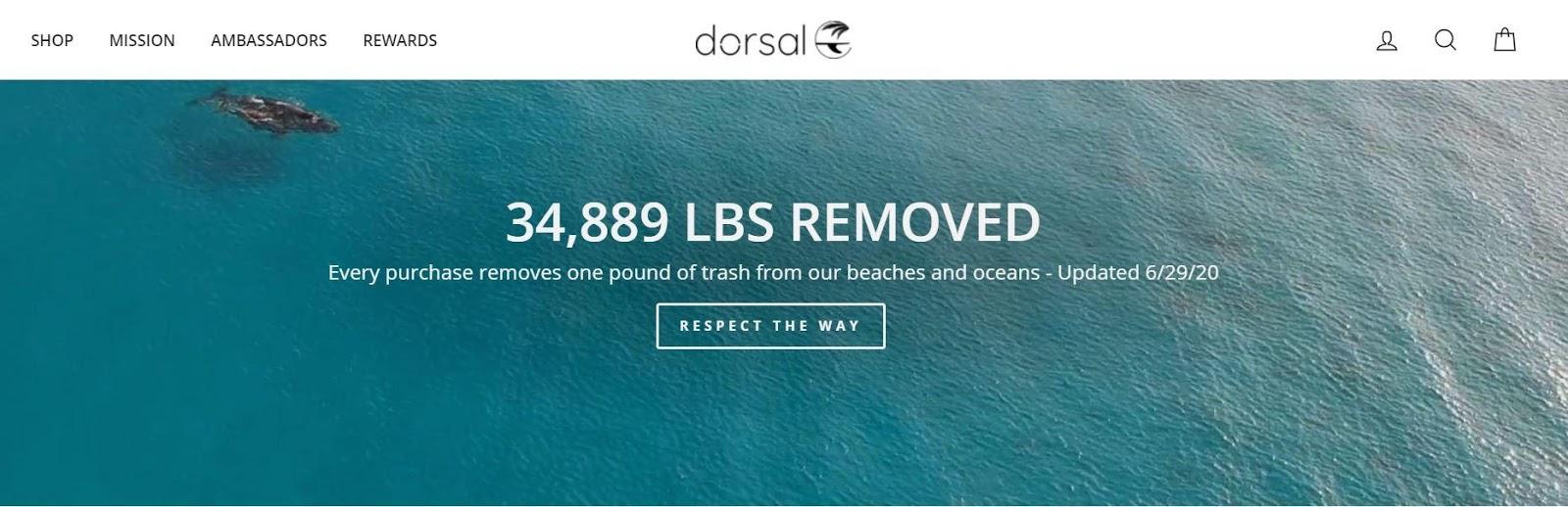 Dorsal landing page
