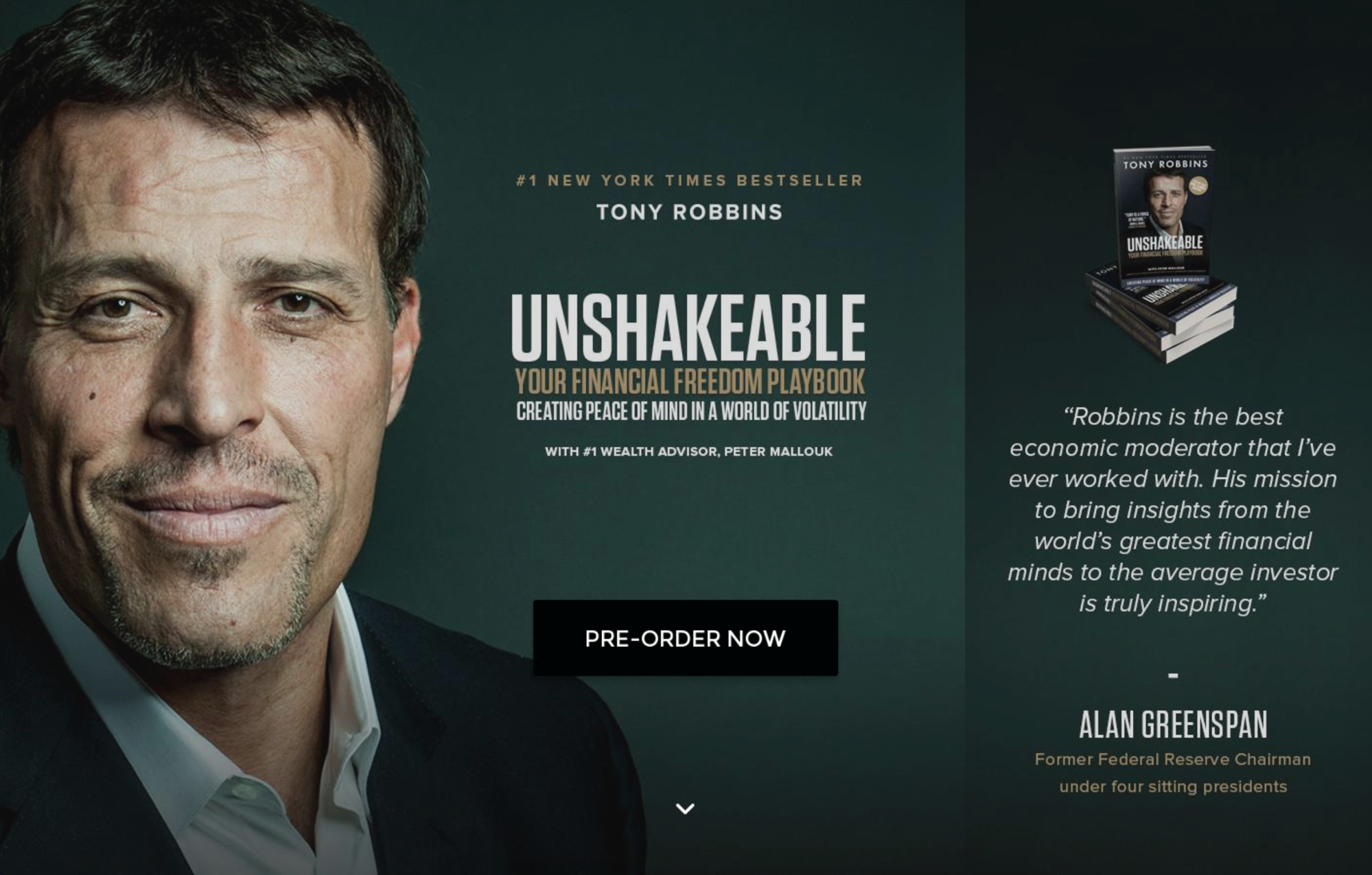 Screenshot of a Tony Robbins product page