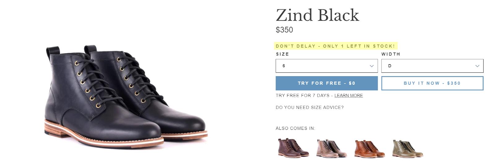 Helm Boots - Zind Black