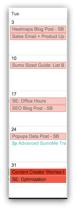 blogging calendar tips