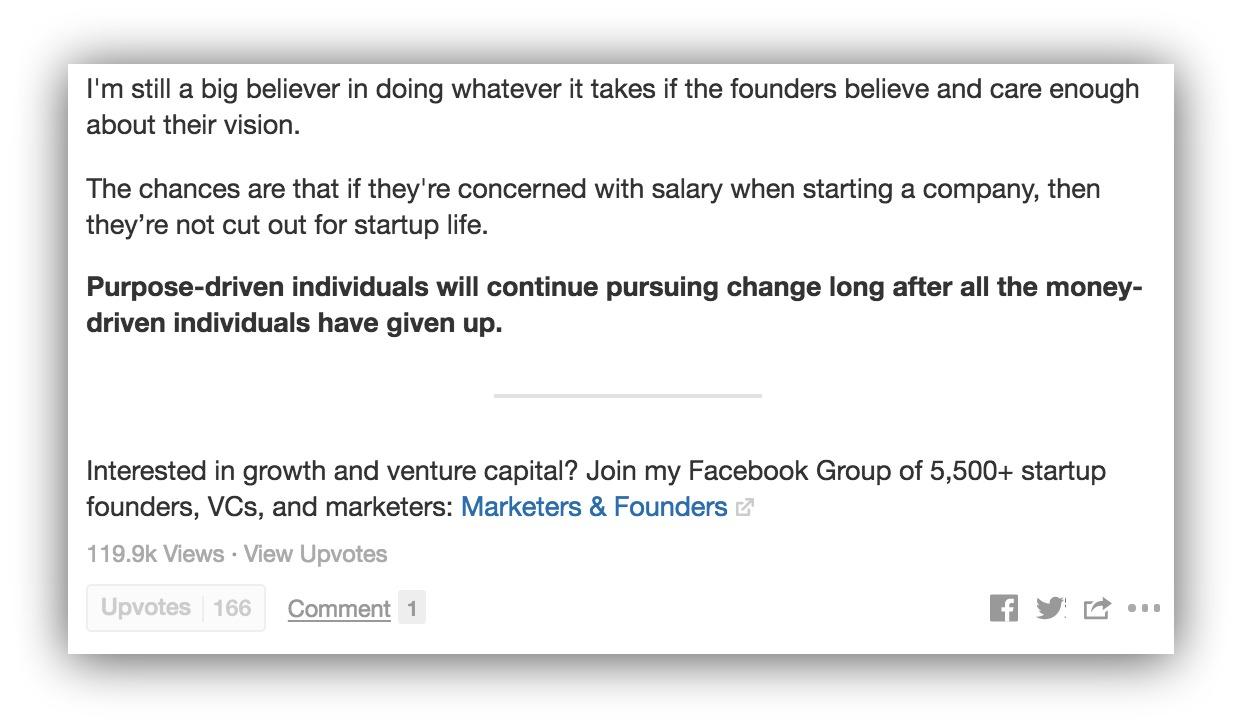 Screenshot of an answer on Quora