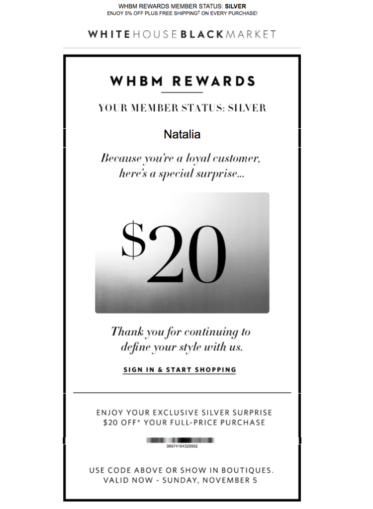 Screenshot showing an email by WHBM