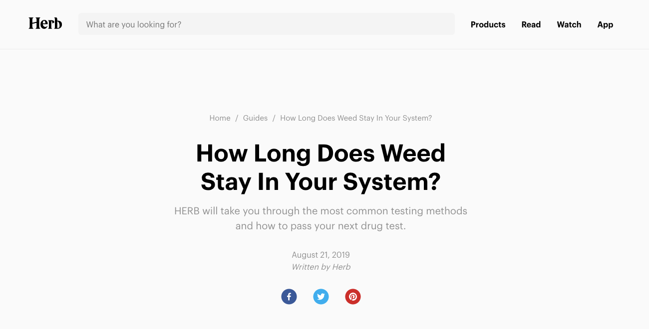 Screenshot of FAQ post used by Herb.co blog