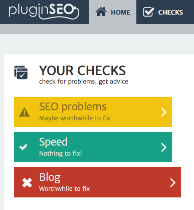 Screenshot showing pluginSEO