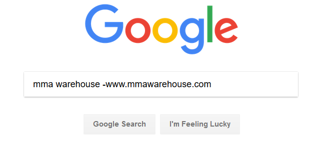 Screenshot showing a google search query